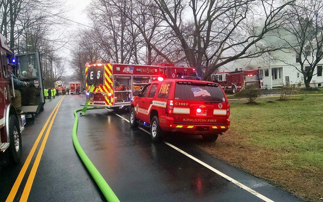 Three Alarm Fire on Georges Road