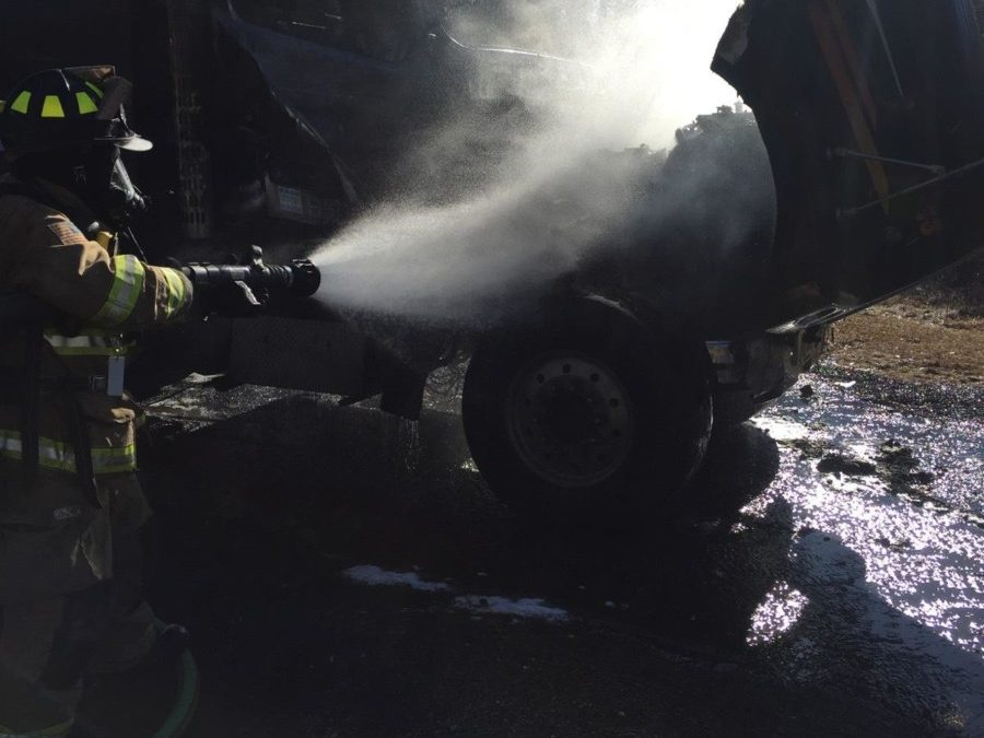 Fully Involved Truck Fire Suppressed on Laurel Avenue