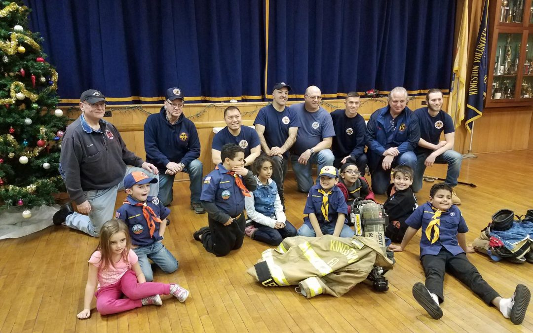 Cub Scout Pack 98, Den 5 & Den 6 Visits Kingston Volunteer Fire Company #1
