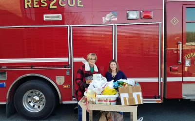 Carol Luck Delivers Food Donations to South Brunswick Township Social Services Department