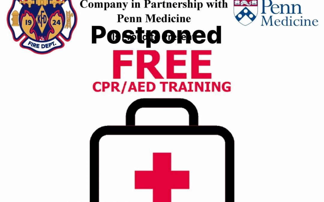CPR/AED Class Postponed Due to Covid-19