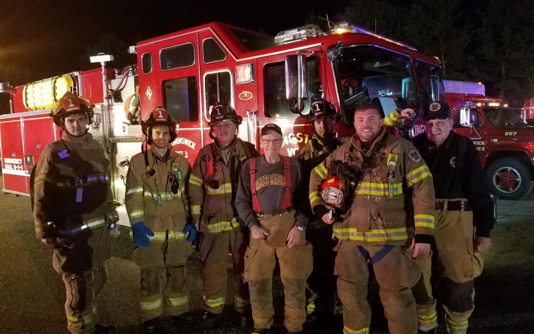 Two-Alarm Warehouse Fire on Ridge Road