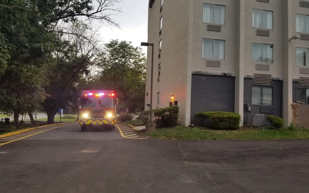 Exterior Fire on Electrical Panel at DoubleTree Hotel